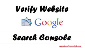 how to verify google webmaster in Hindi