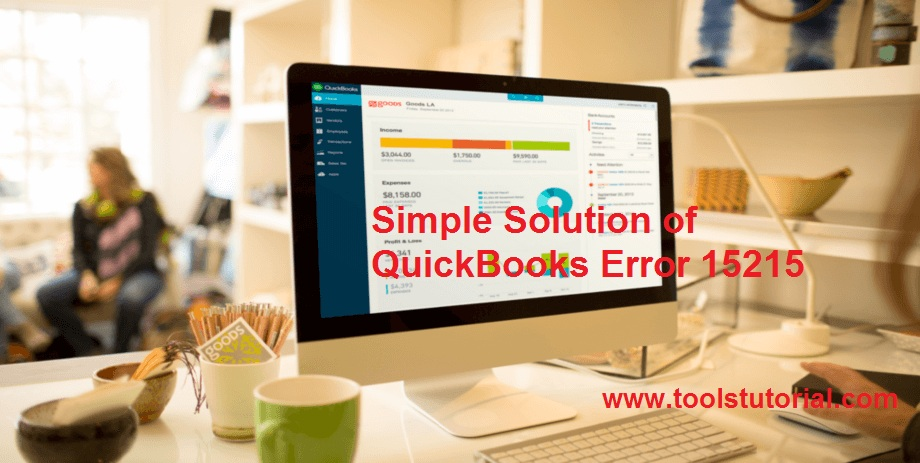 Simple Solution of QuickBooks Error 15215